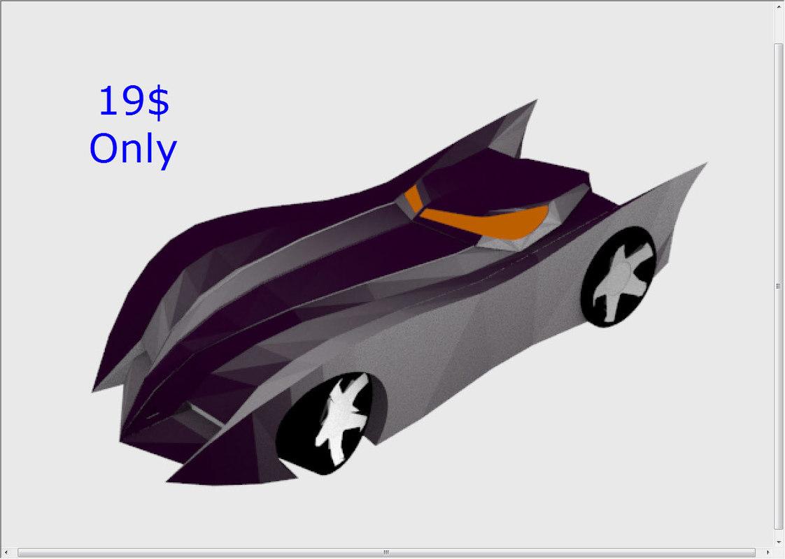 batmobile batman car model