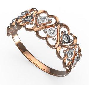 3D model heart ring