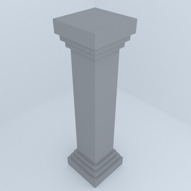 3D historic column