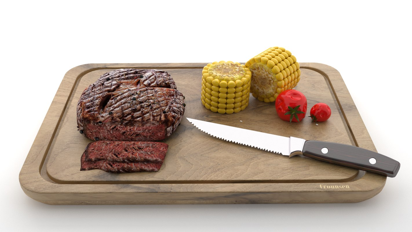 3D steak wood