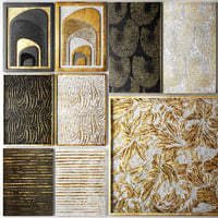 collection gold paintings