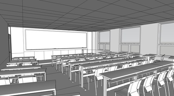 lecture room 3D model