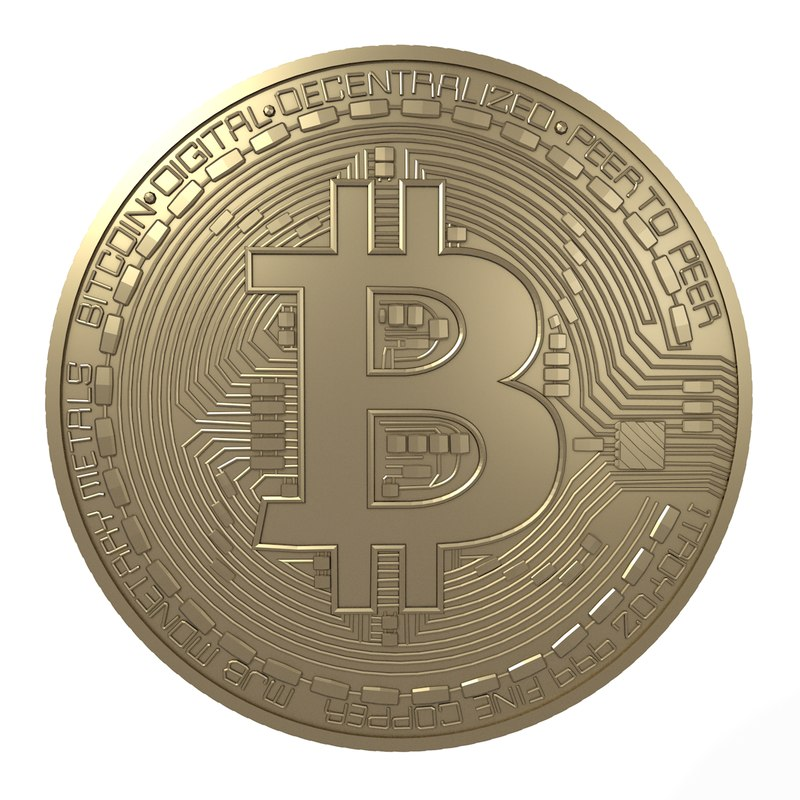 bitcoin btc commemorative 3D