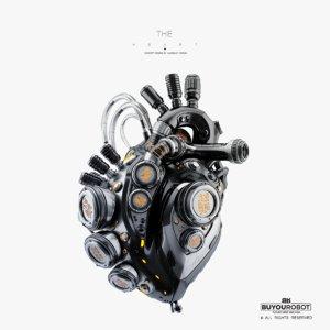 3D futuristic robotic heart model