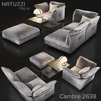 3D sofa natuzzi cambre