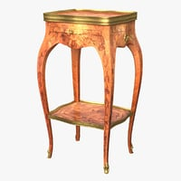 historic table louis xv 3D model