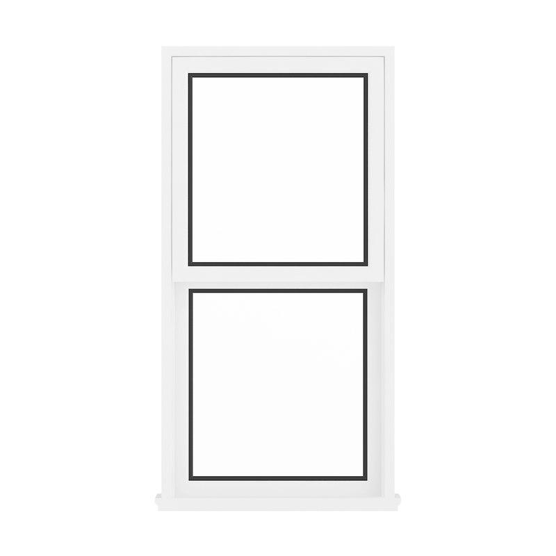 white window 143 5 3D model
