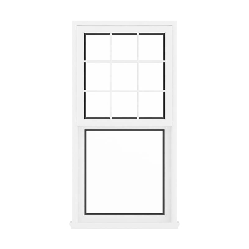 3D white window 143 5 model