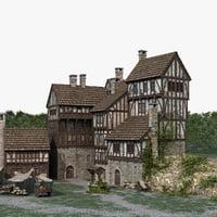 medieval town village 3D
