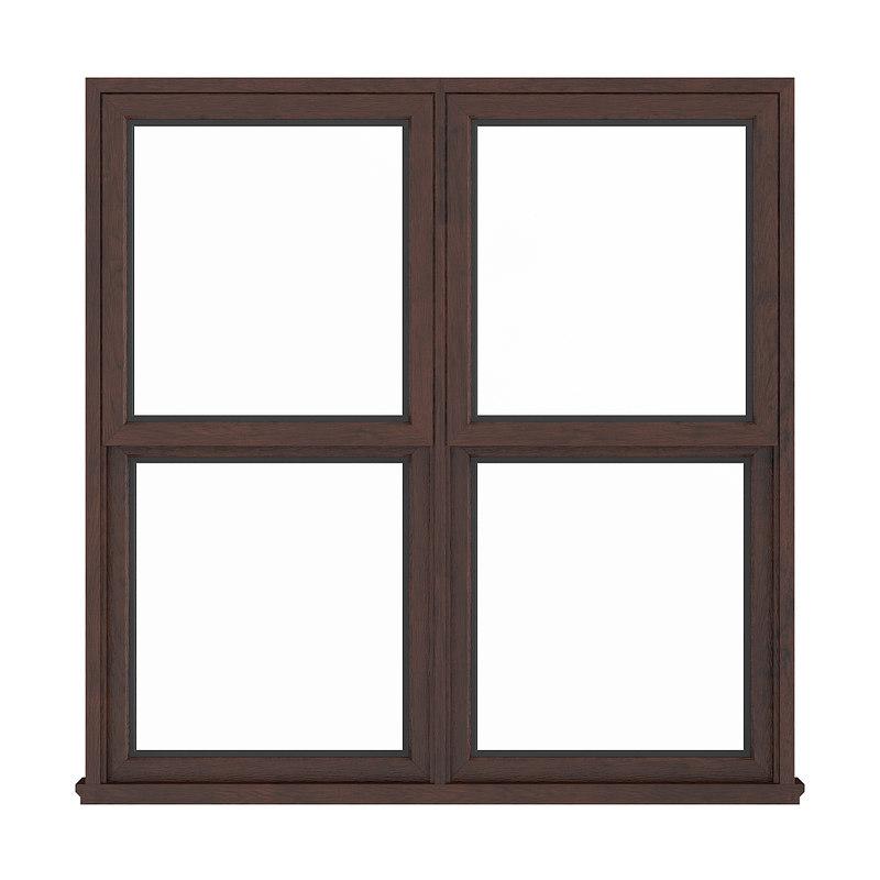 3D wooden window 143 5