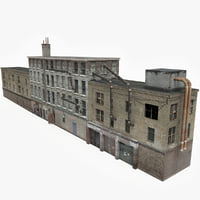3D model ready old apartment building