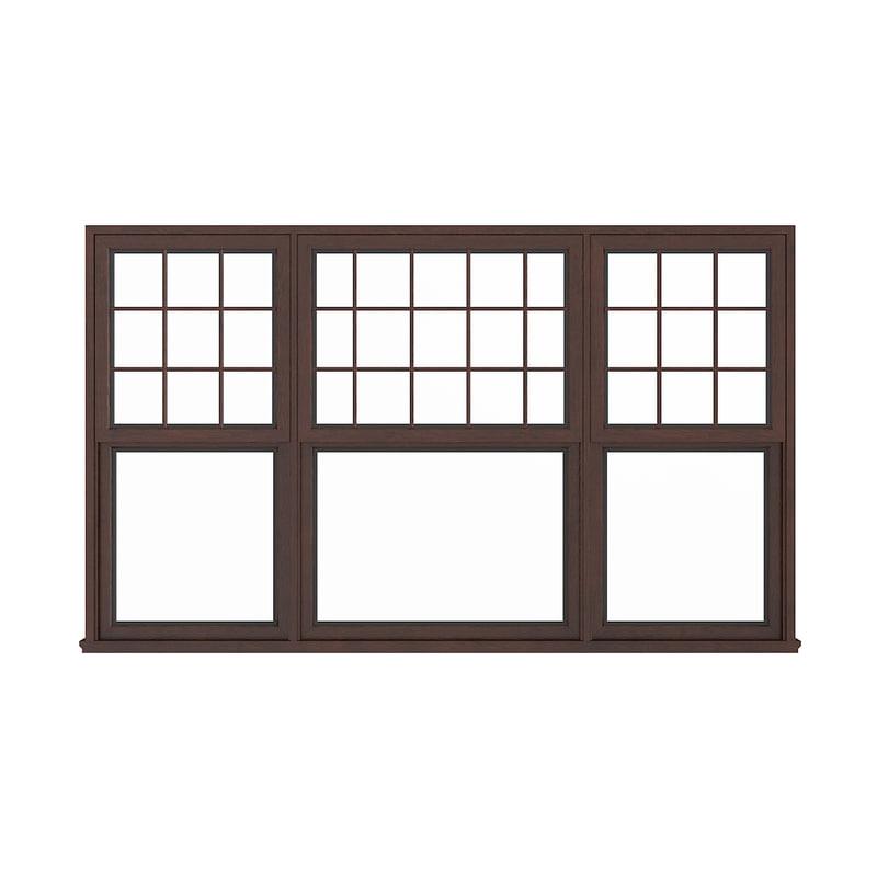3D window wood