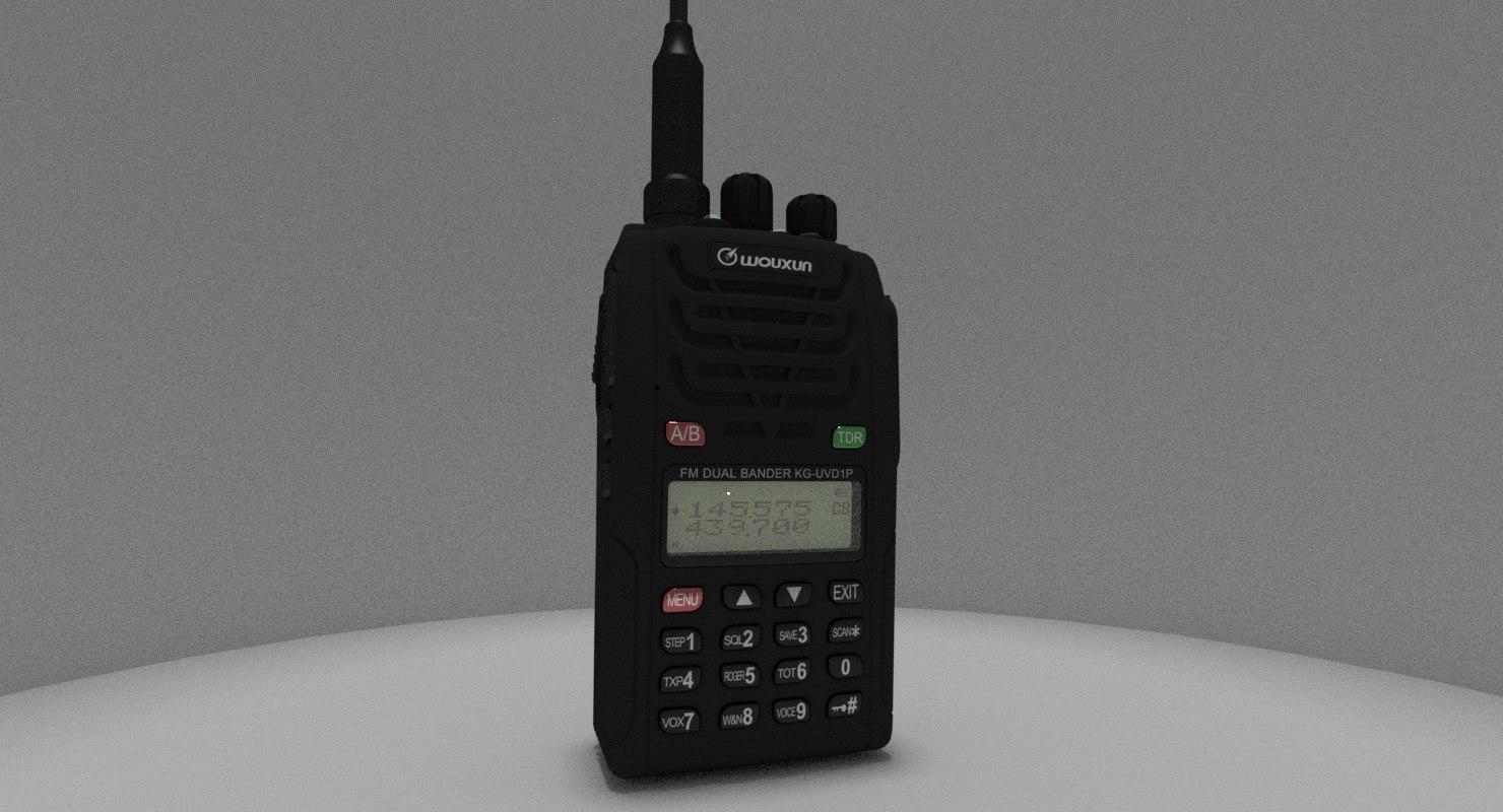 3D wouxun kg-uvd1p radio