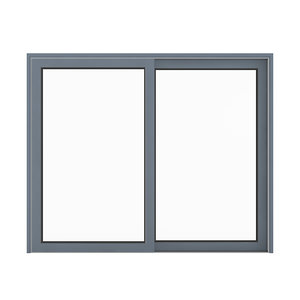 3D model metal window 235 x