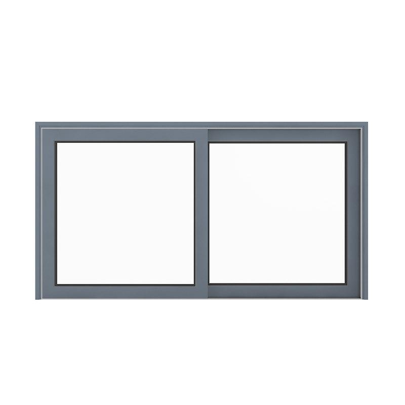 metal window 155 x 3D model