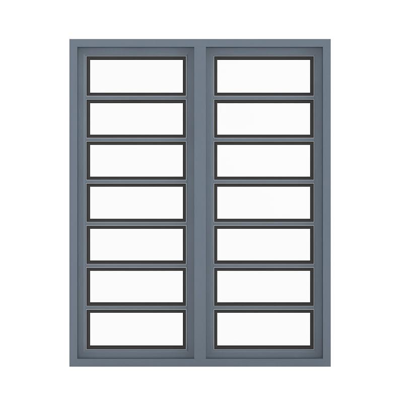 metal window 268 x model