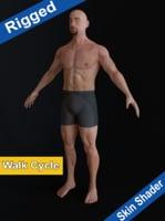 3D Male Character -Rigged+SkinShader