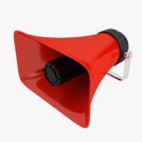 loudspeaker speak speaker 3D