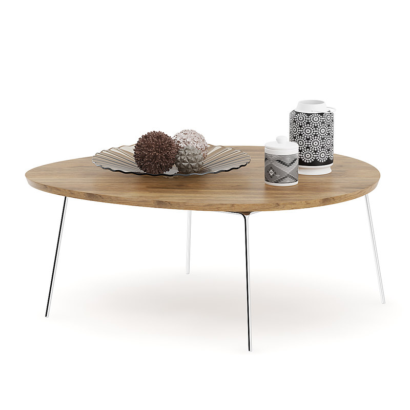 3D coffee table vases