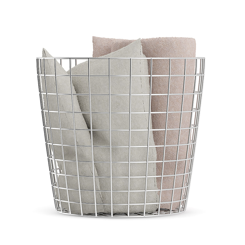 chromed basket blankets model