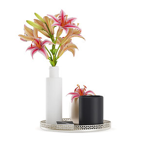 tray flower bouquet 3D model