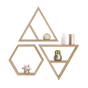 3D wooden wall decorations model