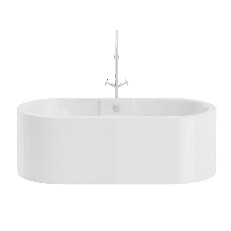 3D large rounded bath