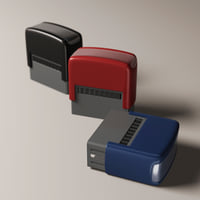 3D self-inking rubber stamp