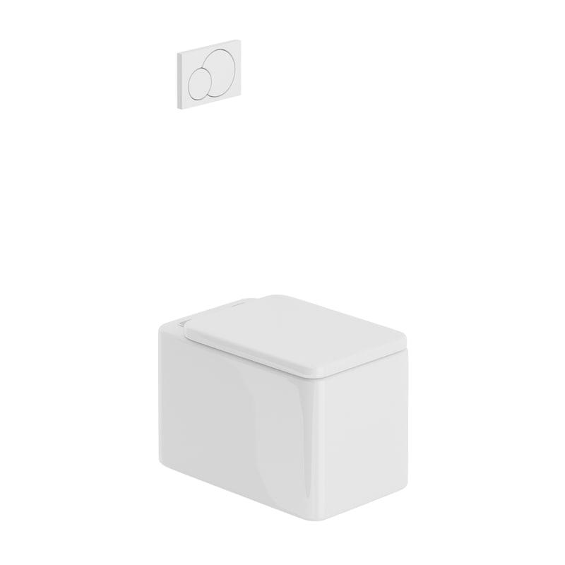 3D rectangular rounded toilet