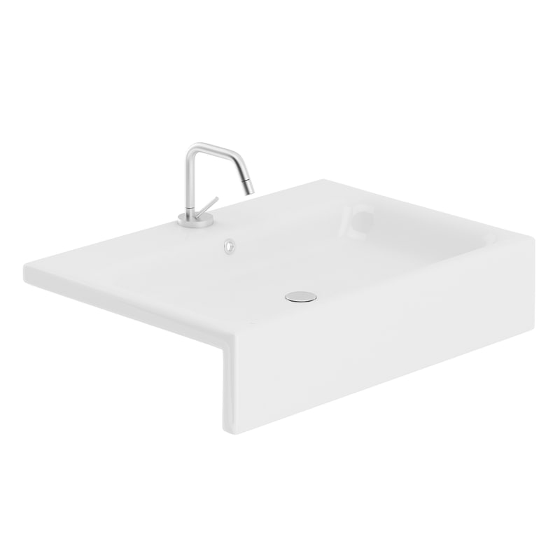 rectangular washbasin wash 3D model