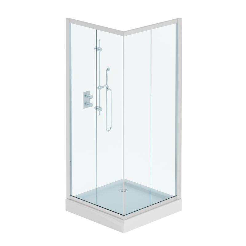 3D square shower model