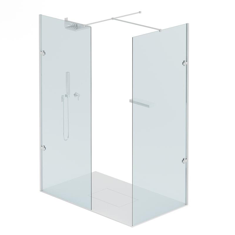 3D rectangular shower