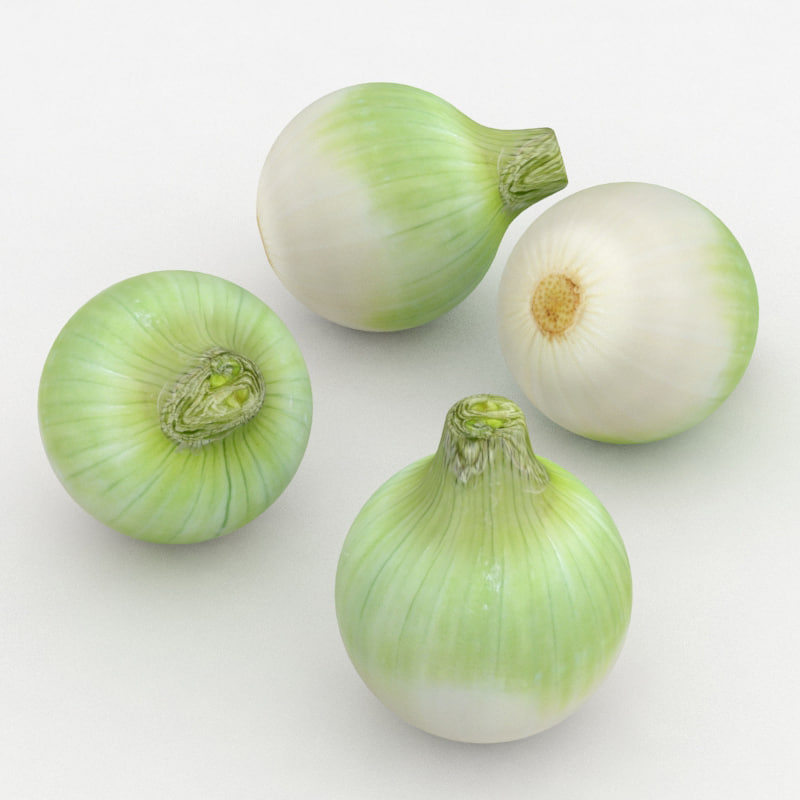 3D peeled onion