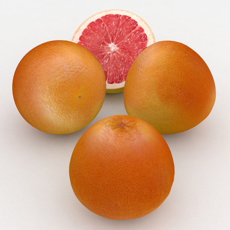 fruit grapefruit 3D model