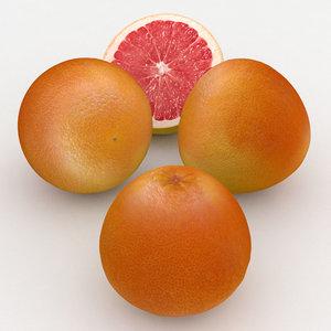 fruit grapefruit 3D model