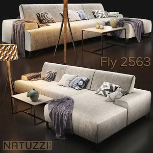 3D sofa natuzzi fly 2563