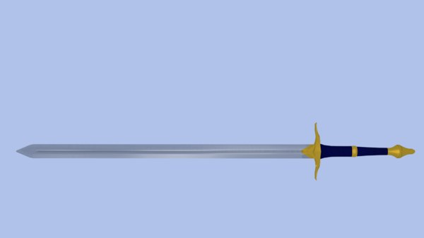 sword low-poly 3D model