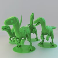 Low Poly Raptors Pack