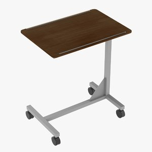 overbed hospital tray table wood model