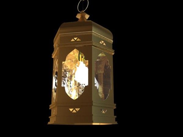 3D islamic lamp interior model