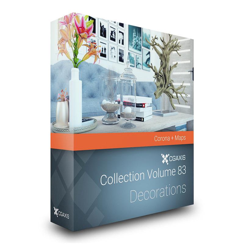 volume 83 decorations corona 3D model