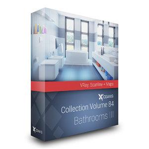 3D volume 84 bathrooms iii model