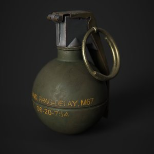 m67 grenade 3D