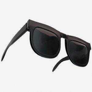 black sunglass 3D model