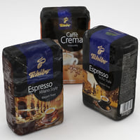 3D coffe package tchibo 500g