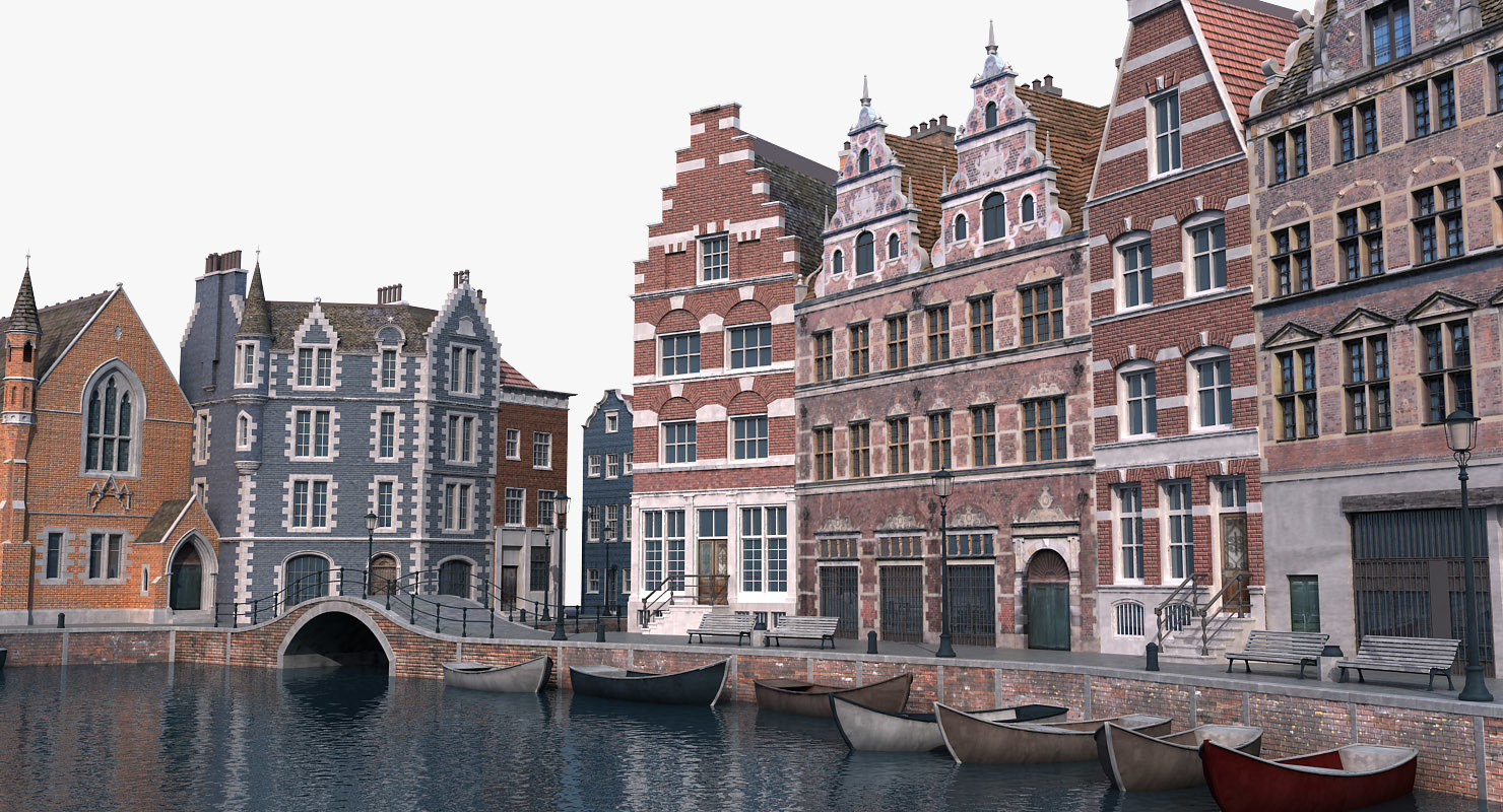 3D amsterdam scene model