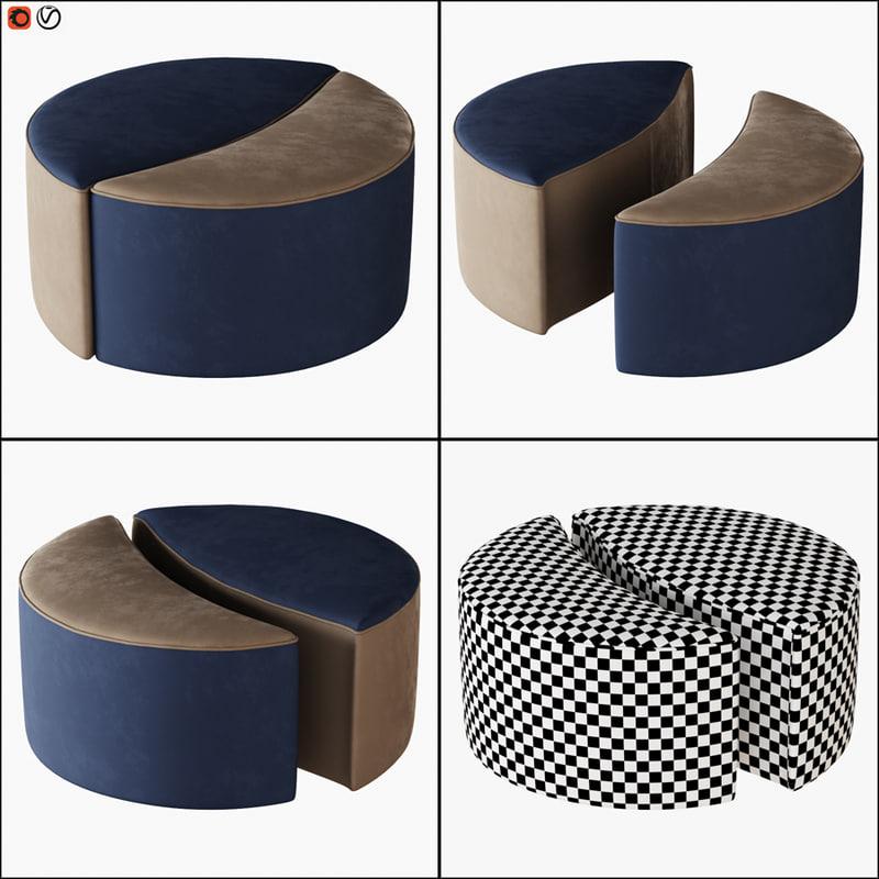 3D pouf bedding daydream