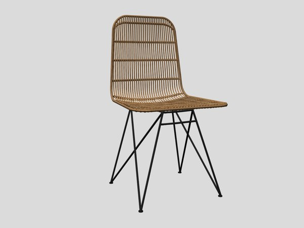 3D darling rattan chair bloomingville model