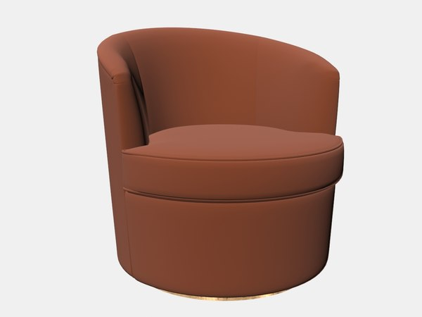 floradora swivel chair amy 3D