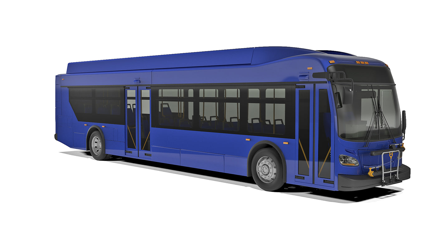 3D model short bus new flyer